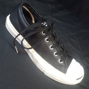 JACK PURCELL CONVERSE Men 3.5 /Wo 5 Black Leather